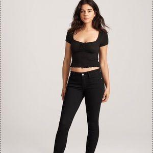Abercrombie & Fitch Super Skinny Black Jeans 8R